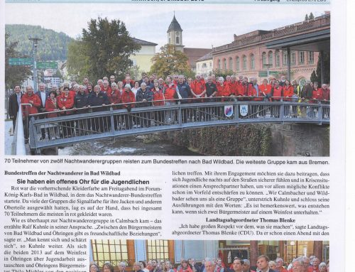 Bundestreffen der Nachtwanderer in Bad Wildbad