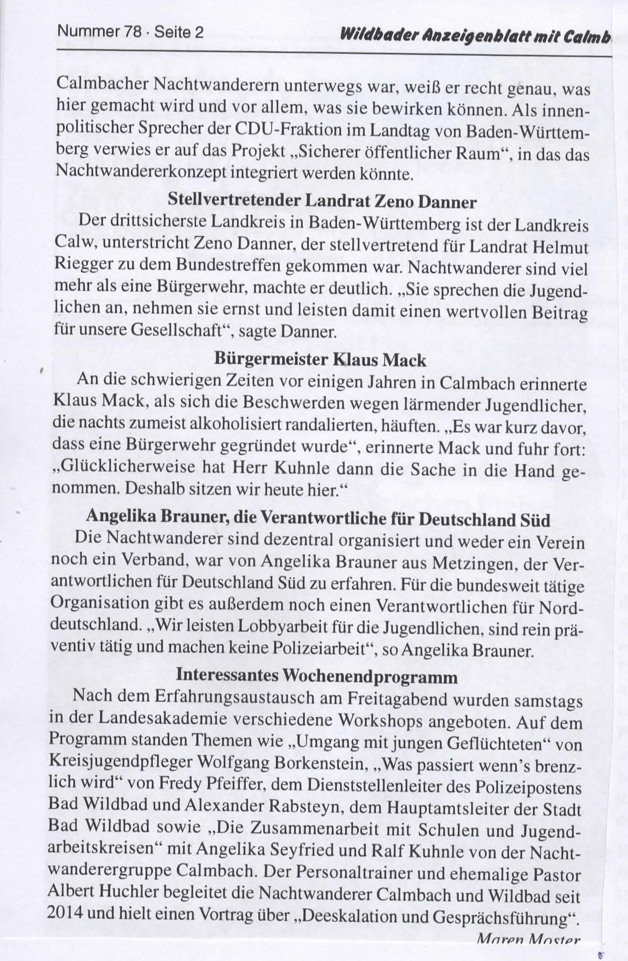 Amtsblatt Bundestreffen Nachtwanderer 2