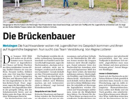 Die Brückenbauer – Neuer Zeitungsartikel über die Nachtwanderer