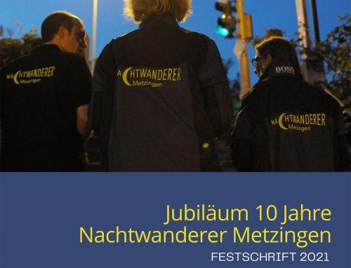 Festschrift zum 10-jährigen Jubiläum der Nachtwanderer Metzingen
